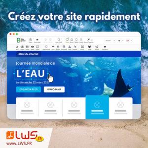 Création de site avec SiteBuilder Pro LWS